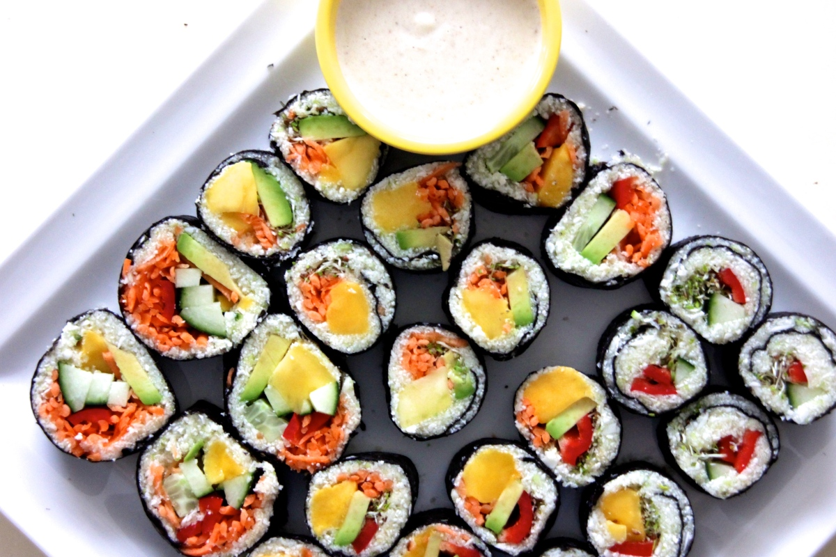 Joyful Sushi Rolls|Raw Vegan Recipe