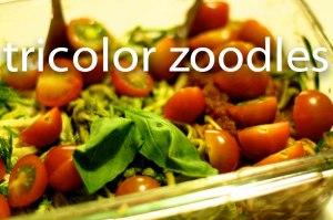 tricolor zoodles